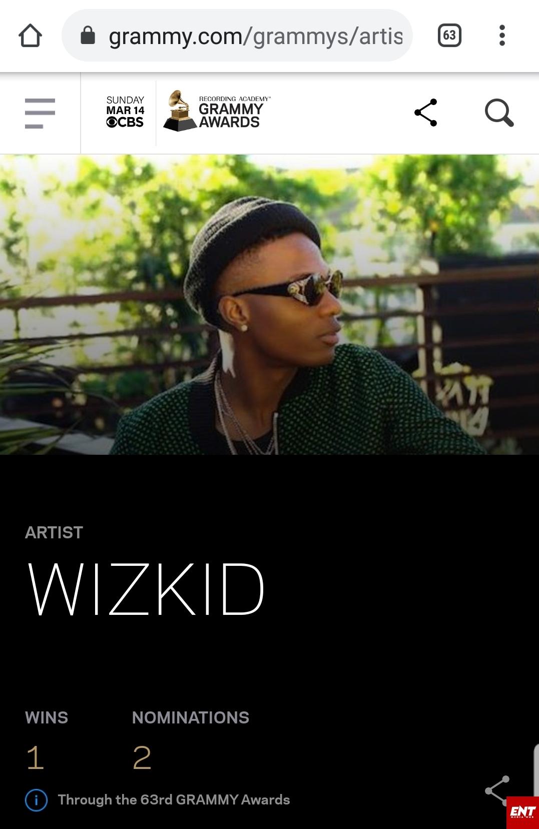 Wizkid #Grammy award