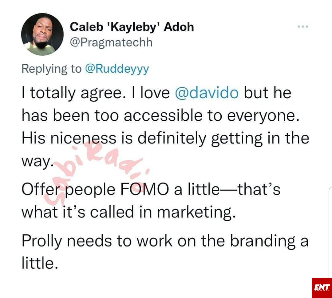 Davido too accessible